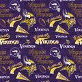 Minnesota Vikings Cotton Fabric-Retro