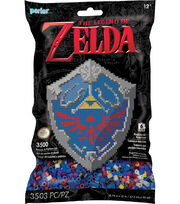 Perler The Legand of Zelda Hylian Shield Beads & Pattern Kit, , hi-res