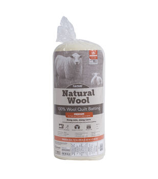Fairfield Twin Size Natural 100% Sheep Wool Quilt Batting