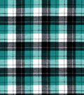 Snuggle Flannel Fabric-Skylar Lapis & Black Plaid