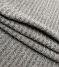Check it Brushed Rib Knit Fabric-Gray