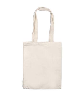 """Bag Works 10-3/4""""x13.-3/4"""" Canvas Tote Bag-1PK/Natural"""