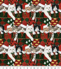 Christmas Cotton Fabric -Kittens in Stockings