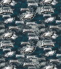 Philadelphia Eagles Cotton Fabric-Distressed