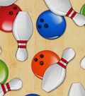 Novelty Cotton Fabric 44\u0022-Bowling Time