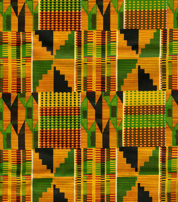 Ethnic Cloth Fabric 43''-African Kente