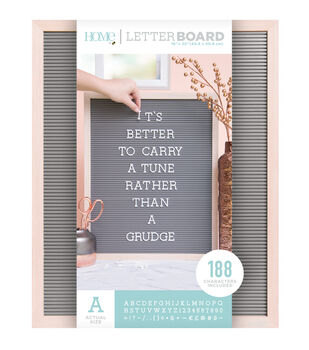 DCWV Home 16''x20'' Oak Gray Letter Board with 1'' White Letters