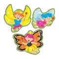 Flittering Fairies Sparkle Stickers-Large 18 Per Pack, 6 Packs
