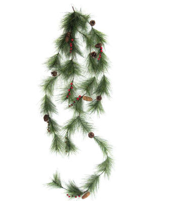 Blooming Holiday Christmas Spider Pine, Pinecone & Berry Garland