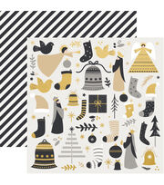 Kaisercraft First Noel 12''x12'' Double-sided Specialty Cardstock-Hark, , hi-res