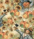 Harvest Cotton Fabric 43\u0022-Sunflower Fields