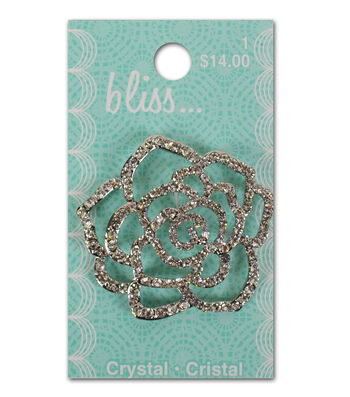 Bliss Crystal Flower Button