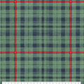 Super Snuggle Flannel Fabric-Blackwatch Green & Navy Plaid