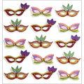 Jolee\u0027s Mini Repeats Stickers-Mardi Gras Masks