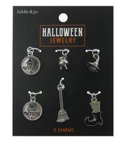 hildie & jo Halloween 6 Pack Silver Charms, , hi-res