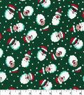 Christmas Cotton Fabric-Cool Santas