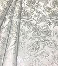 Glitterbug Fabric-Brocade White