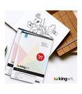 KINGART Black Paper Sketch Pad 9\u0022X12\u0022 2 Pack-30 Sheets