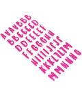 American Crafts Hello Dreamer Alphabet Stickers-Pink