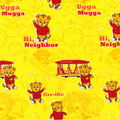 Disney Junior Daniel Tiger Flannel Fabric 42\u0027\u0027-Grr-ific on Yellow