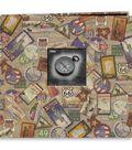 Pioneer 12\u0022X12\u0022 Postbound Album Travel Print W/Frame-Travel