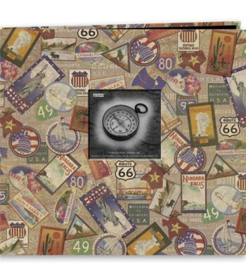"Pioneer 12""X12"" Postbound Album Travel Print W/Frame-Travel"