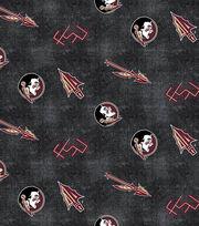 "Florida State University Seminoles Flannel Fabric 42""-Distressed Logo, , hi-res"