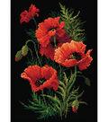 RIOLIS Diamond Mosaic Embroidery Kit 10.75\u0022X15\u0022-Poppies