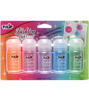 Tulip Fashion Glitter Assortment Jar 5/Pkg-Neon, , hi-res