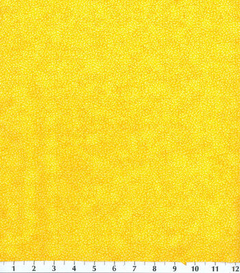 Keepsake Calico Cotton Fabric -Yellow Textured Vine