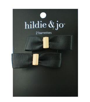 hildie & jo 2 pk Bow Barrettes-Black