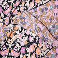 Fast Fashion Bubble Crepe Knit Fabric-Black & Pink Diamond