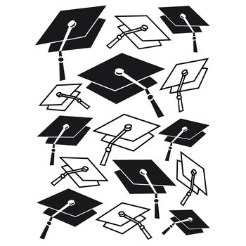 Darice Embossing Folder Graduation Hat Background