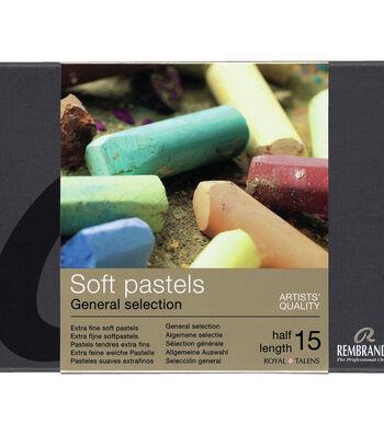 Rembrandt Half Stick Soft Pastels Set 15/Pkg-General Selection