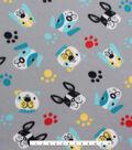 Blizzard Fleece Fabric - Doggie Faces
