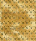 Vintage Cotton Fabric 43\u0022-Intricate Squares Gold