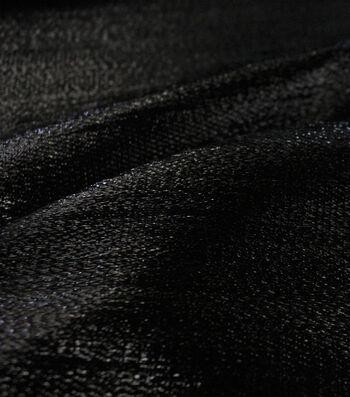 Metallic Apparel Lame Fabric -Shiny Black