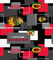 Chicago Blackhawks Cotton Fabric -Modern Block, , hi-res