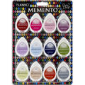 Tsukineko Memento Dew Drop 12 pk Dye Ink Pads-Sorbet Scoops