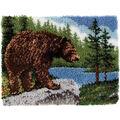 Wonderart Classic Latch Hook Kit 20\u0022X30\u0022-Grizzly Bear