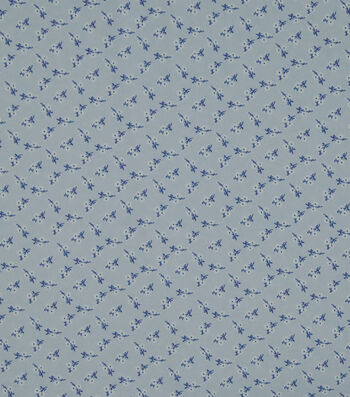 """Silky Stretch Crepe Fabric 57""""-Light Purple Ditsy Floral"""