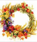 RIOLIS 11.75\u0027\u0027x11.75\u0027\u0027 Counted Cross Stitch Kit-Wreath with Wheat