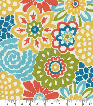 """Waverly Sun N' Shade Outdoor Fabric 54""""-Button Blooms Fruit Cocktail"""