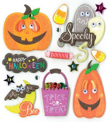 Jolee's Boutique Stickers Funny Pumpkins