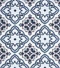 Snuggle Flannel Fabric 42\u0027\u0027-Spa Medallion
