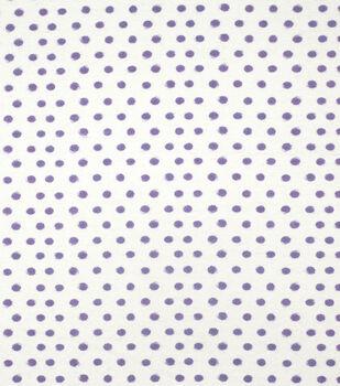 Super Snuggle Flannel Fabric-Purple Dots