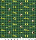 Oregon Ducks Flannel Fabric-Check