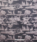 No Sew Fleece Throw 72\u0022-Grey Wilderness