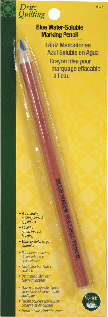 Blue Water Soluble Marking Pencil