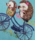Super Fleece Fabric -Biking Hedgehogs